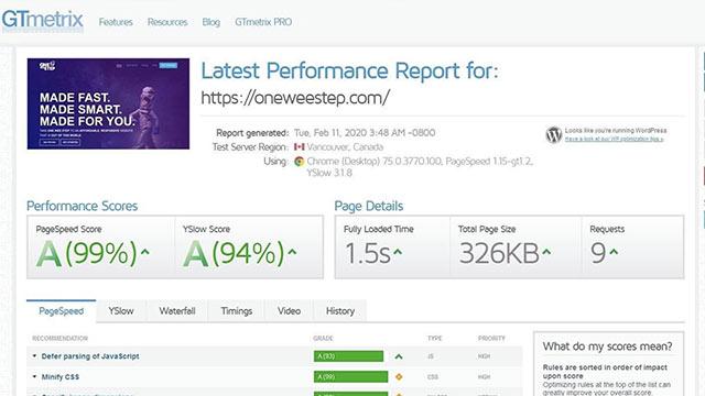 gtx-metrix-performance
